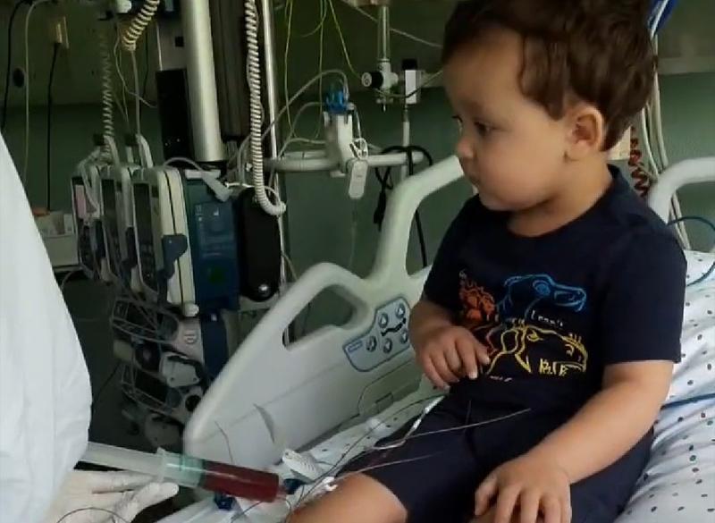 Трансплантацію кісткового мозку Дмитрику провели у понеділок, 4 травня. Фото: надане Іваном Шелудьком