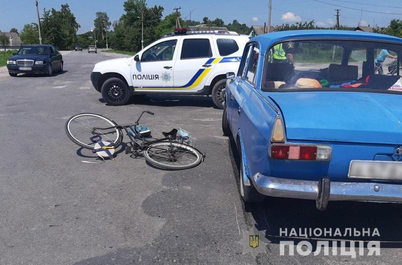Поліцейські з'ясовують обставини ДТП, в якій травмувалась 76-річна велосипедистка