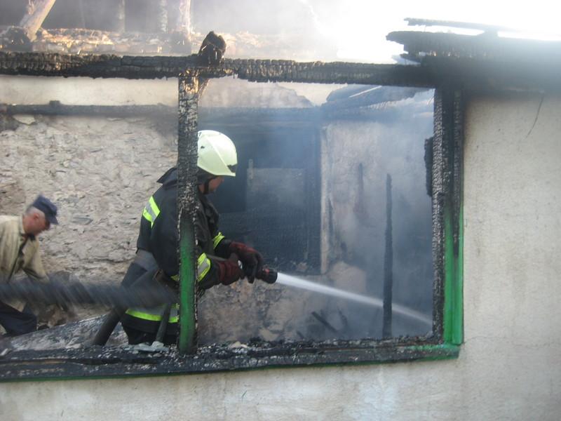 Надзвичайники  врятували людину і ліквідували пожежу житлового будинку