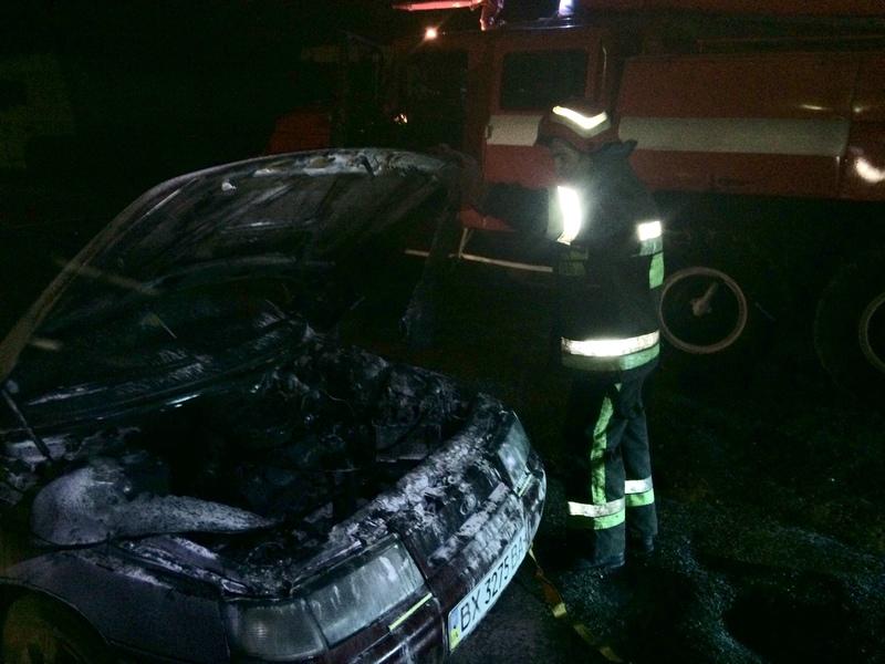 Рятувальники ліквідували пожежу автомобіля