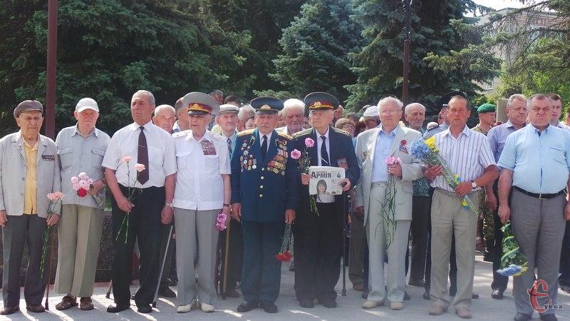 Вшанувати пам'ять жертв війни зібралися ветерани, представники влади та громадськість