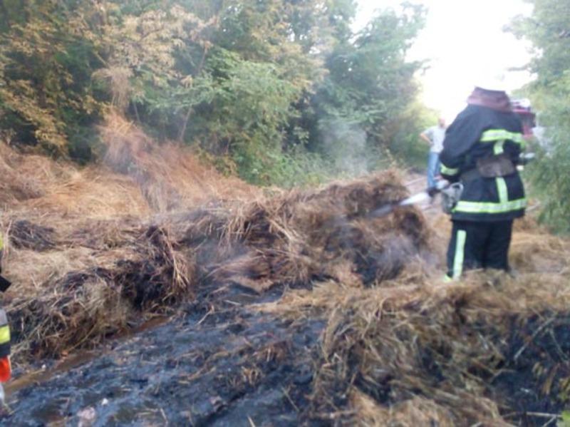 Вогнем знищено кабіну автомобіля, технічний паспорт, борти кузова та 0,7 тон сіна