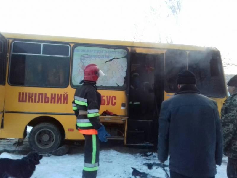 У Деражнянському районі горів шкільний автобус
