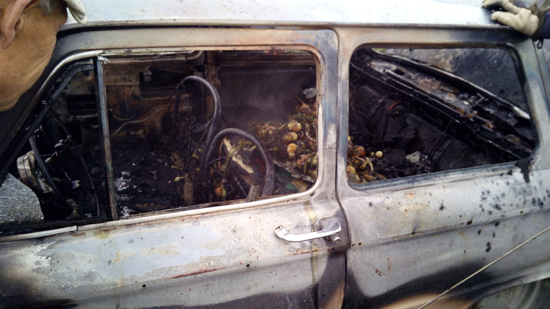 Вогонь пошкодив салон автомобіля