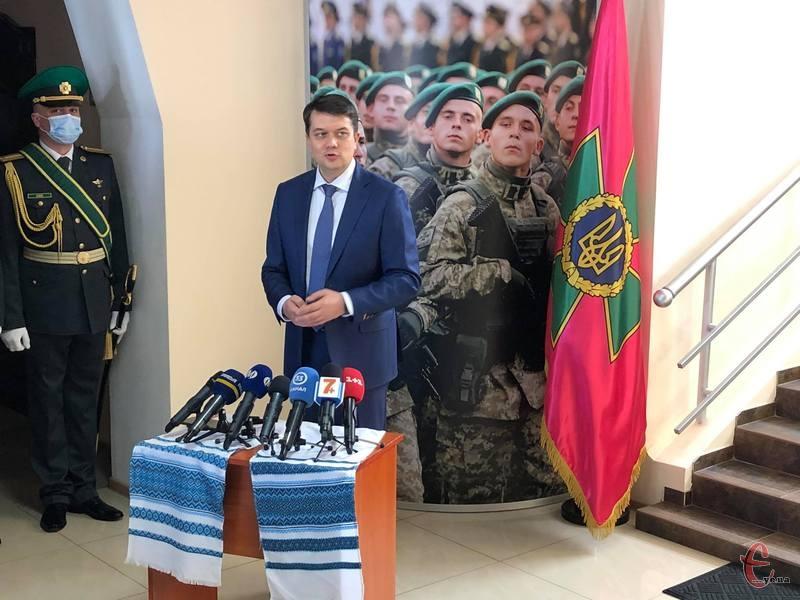 Голова Верховної Ради України Дмитро Разумков відвідає Хмельниччину