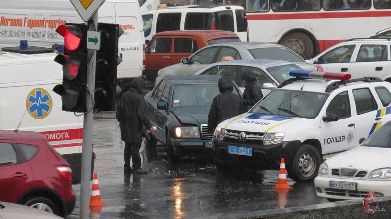 Через аварію в центрі міста 5 травня утворилися чималі затори