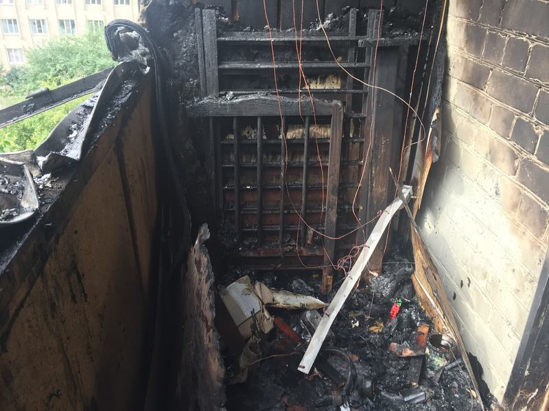 Пожежа сталася на балконі