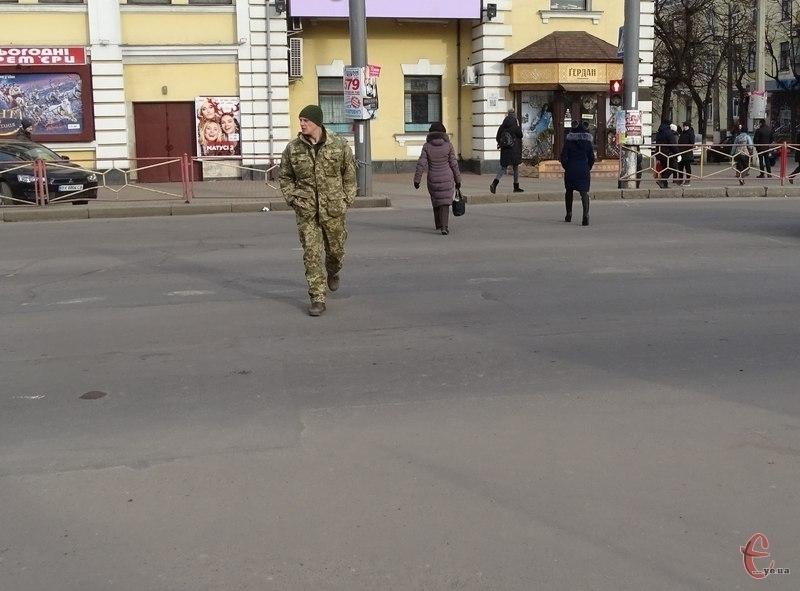 Патрульні поліцейські провели рейд, щоб попередити недобросовісних пішоходів.
