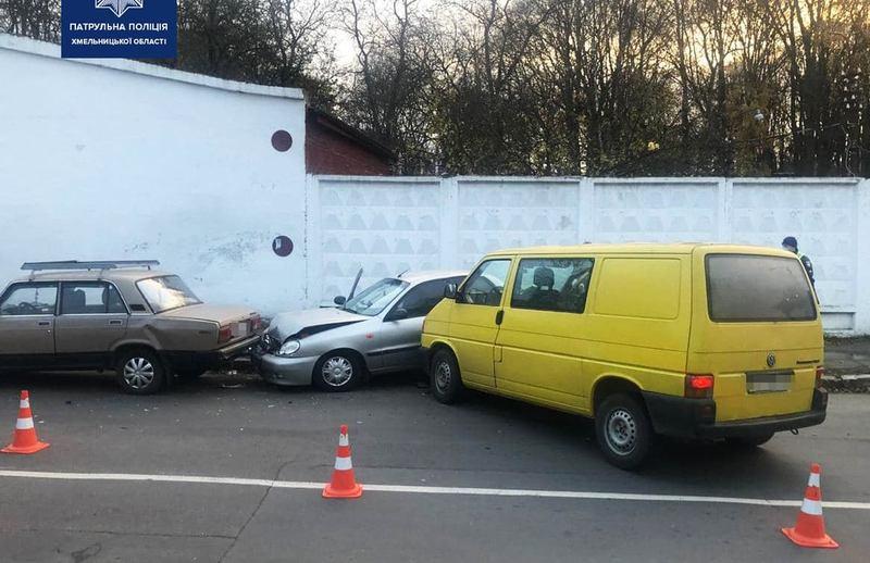 ДТП за участі чотирьох автомобілів сталася на вулиці Чорновола
