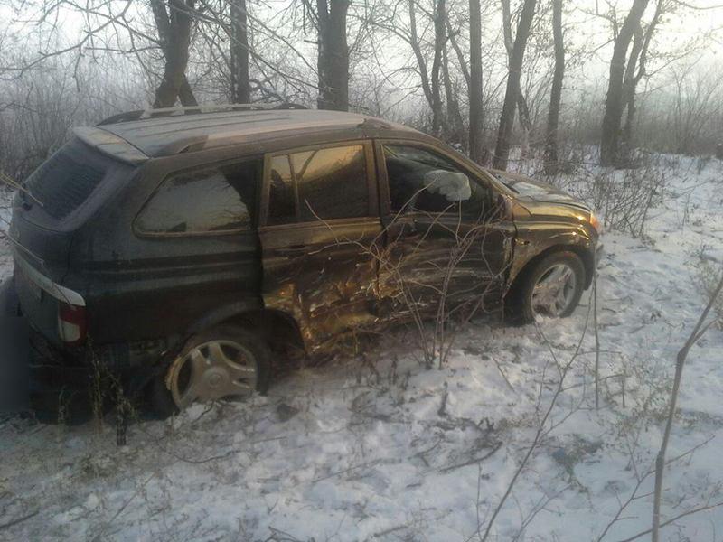 Один із водіїв отримав тілесні ушкодження
