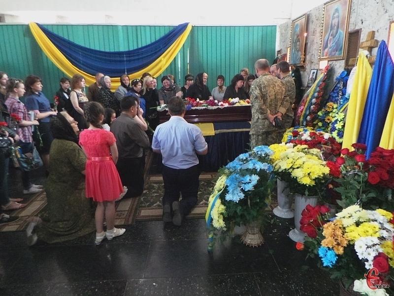 У приміщенні бюро «Ритуальних послуг» відслужили панахиду