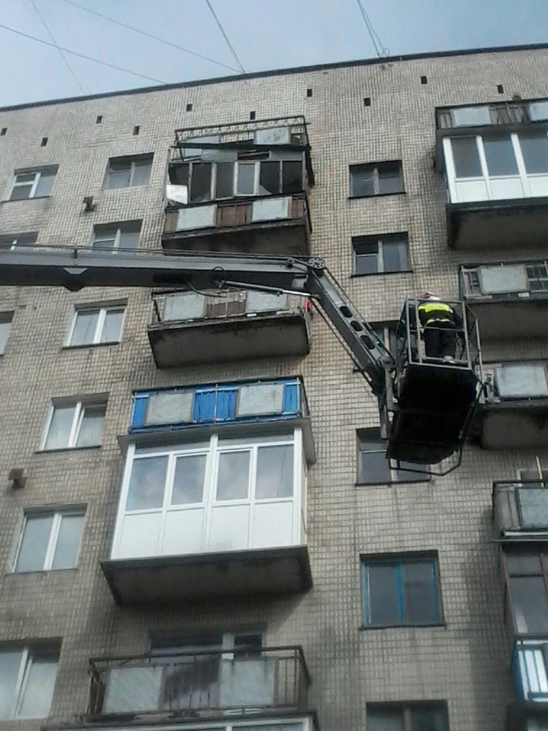 Балкон обвалився через негоду