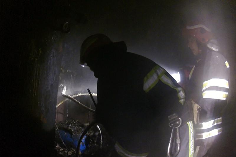 На пожежі був травмований чоловік