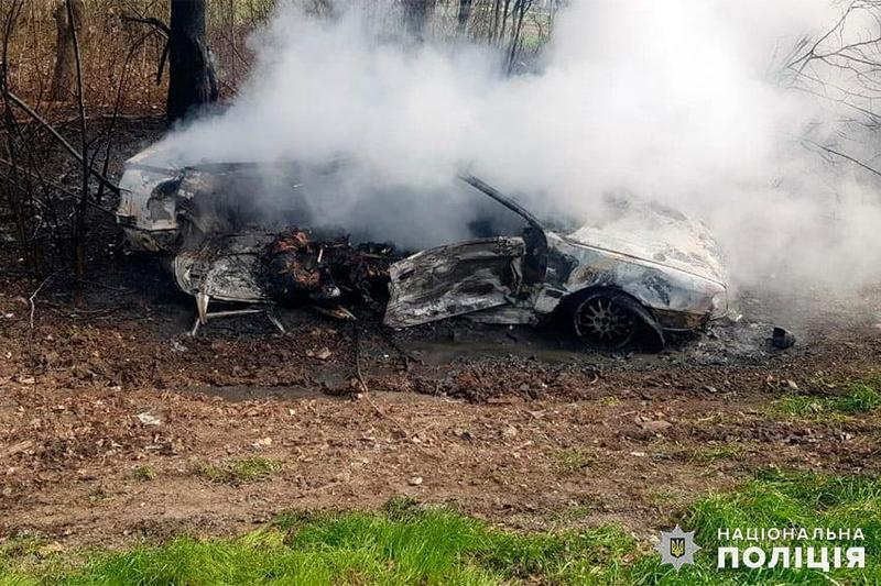 Внаслідок зіткнення автомобіль «Audi» злетів у кювет і загорівся