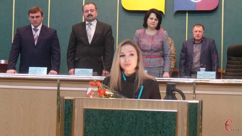 Сестра героя звернулася до присутніх представників влади