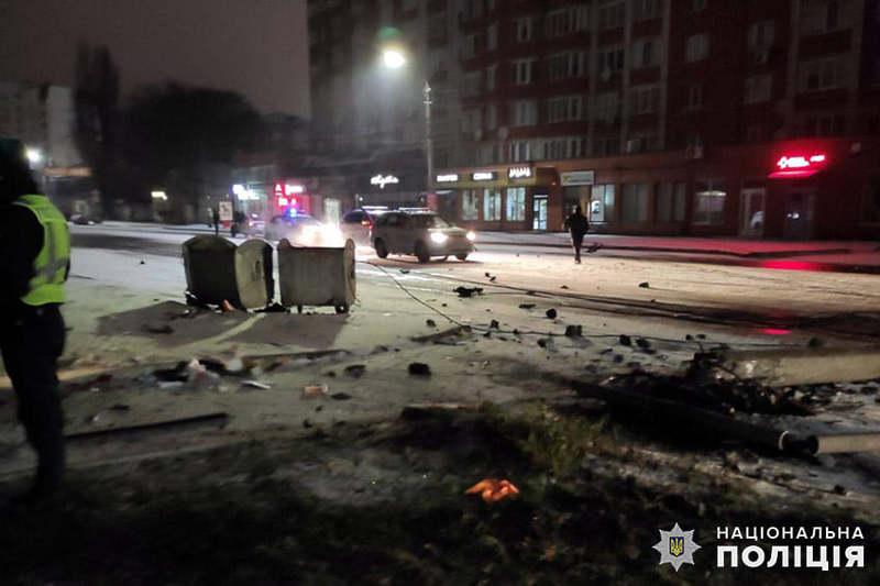 На вулиці Шевченка автівка в'їхала у стовп