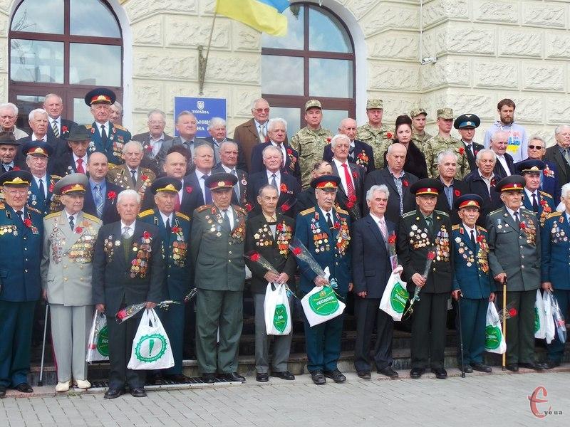 На захід приїхали учасники Другої світової війни з різних районів області