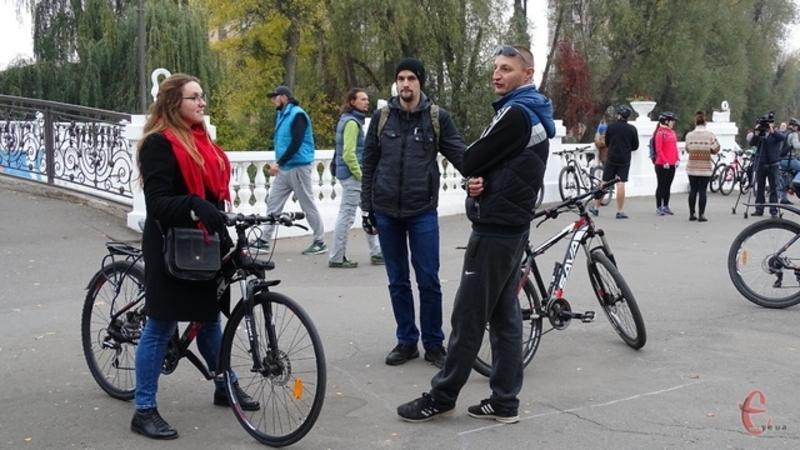 Стартуватимуть велолюбителі із білого мосту в парку Чекмана
