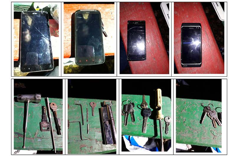 Як з\'ясували поліцейські, підозрюваний готувався до вчинення злочину: ставив мітки на дверях, заклеював «вічка»