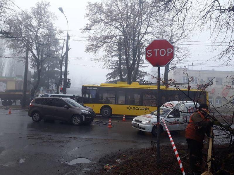 ДТП сталася вранці на вулиці Тернопільській