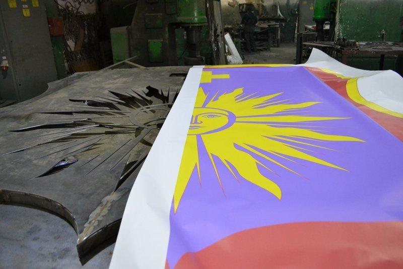 Висота гербу сягатиме чотирьох метрів