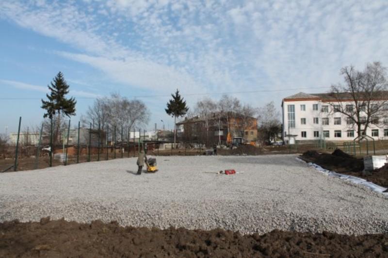 Спортивний майданчик побудуть поблизу однієї із міських шкіл