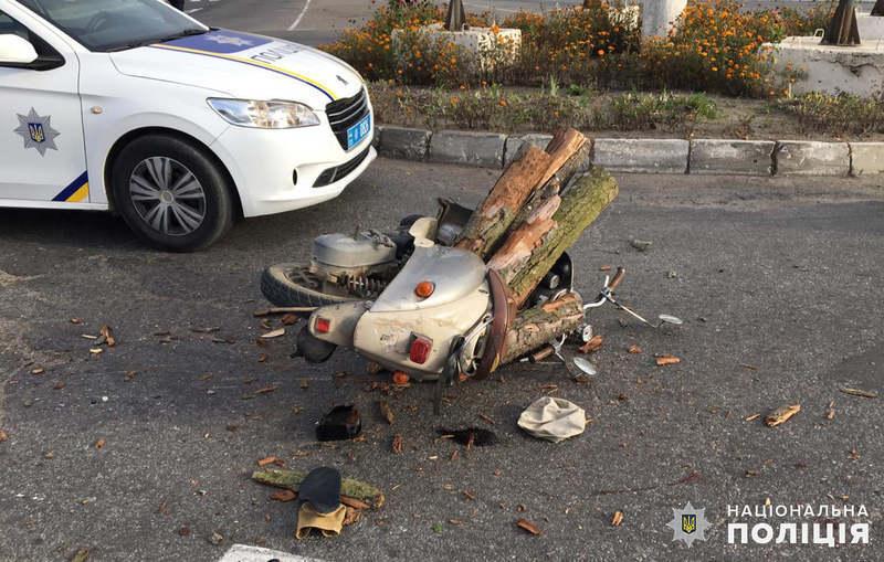 У ДТП загинув водій мопеда