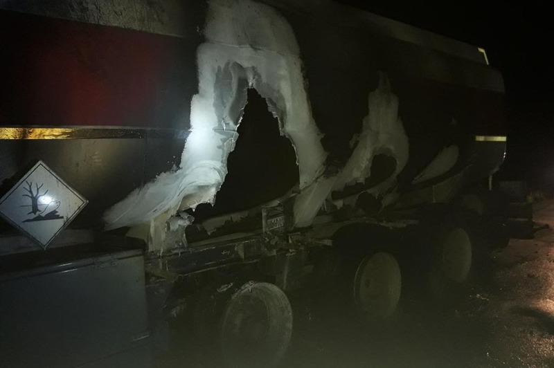 Вогнеборці ліквідували загорання вантажного автомобіля