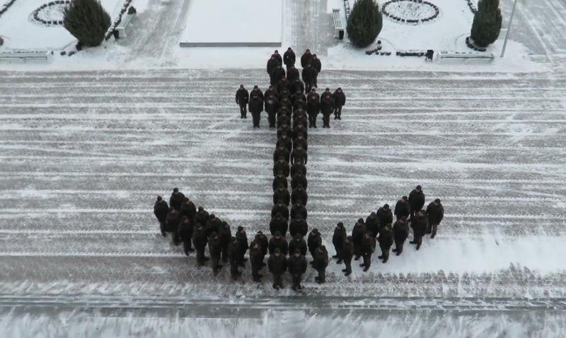 Гвардійці відзняли патріотичне відео та вишикувалися у формі якоря