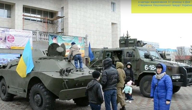 У Нетішині показували військову техніку