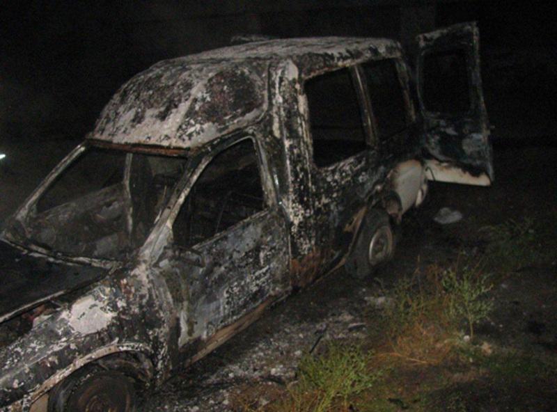 Автомобіль згорів