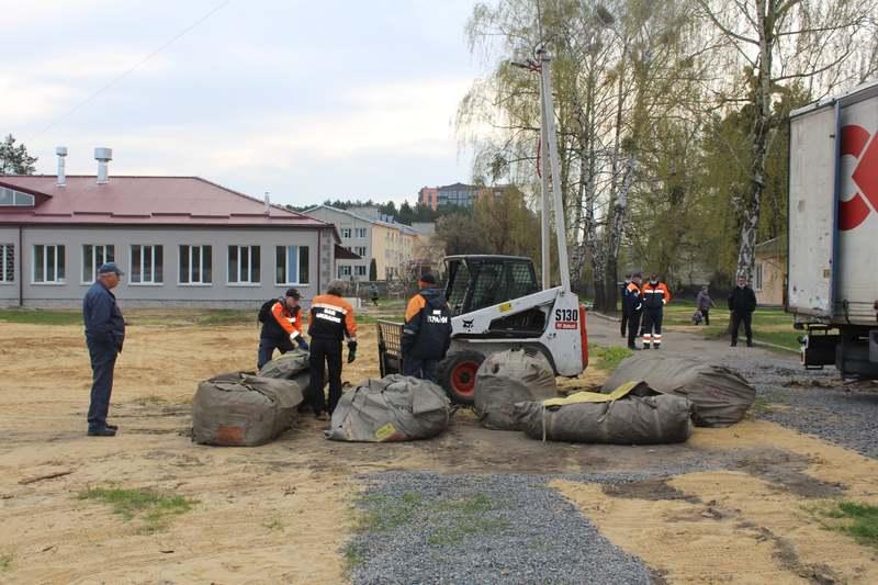 У Славуті демонтували мобільний шпиталь