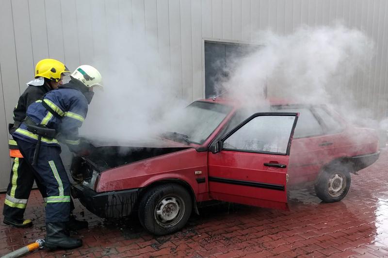 Пожежа виникла у Славуті на вулиці Соборності