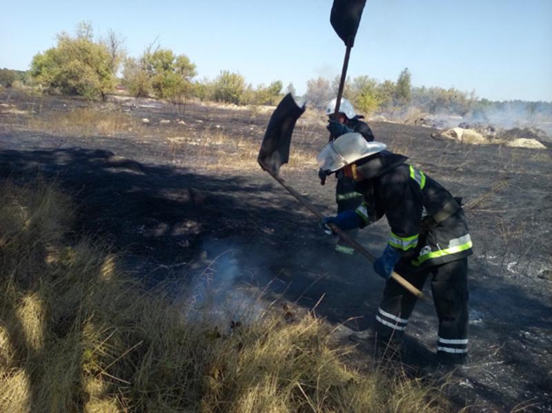 Рятувальники ліквідували пожежу трави на площі 2 гектари