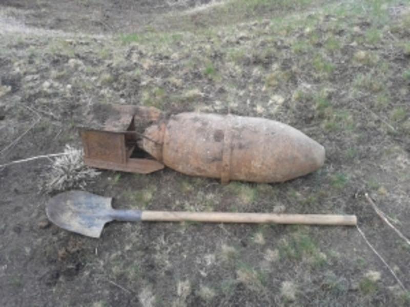 У Старокостянтинові випадково натрапили на стокілограмову бомбу