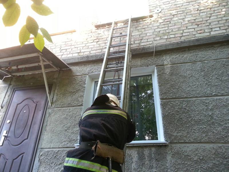 Рятувальики потрапили у квартиру через вікно