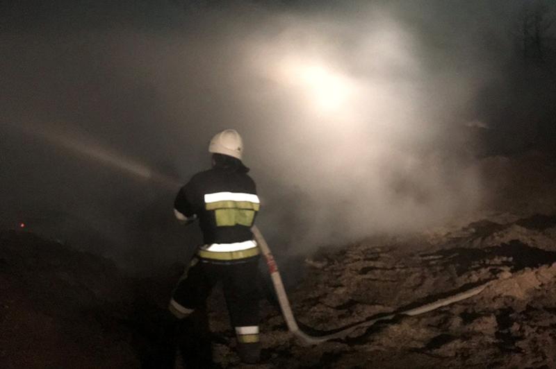Причину загоряння на міському полігоні твердих побутових відходів з'ясовують