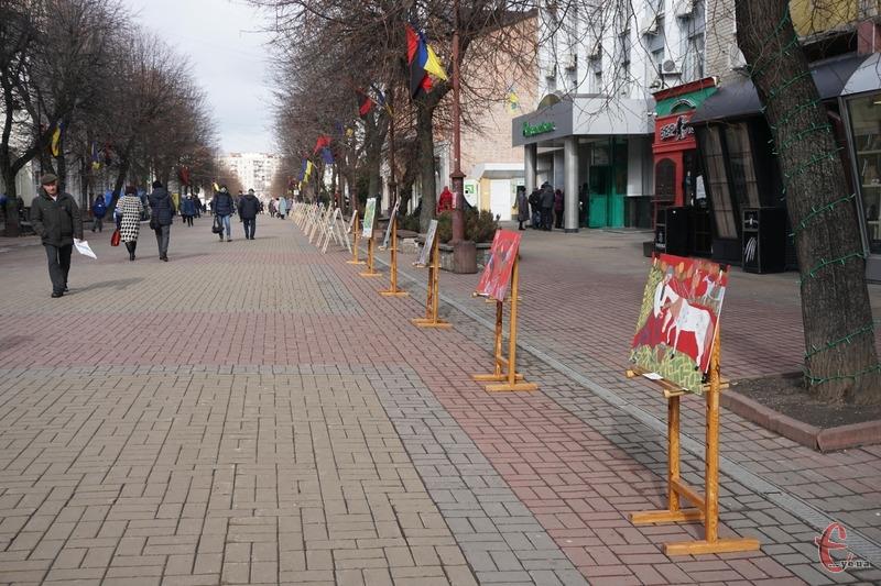 Малюнки за сюжетами творів Кобзаря розташували на вулиці Проскурівській