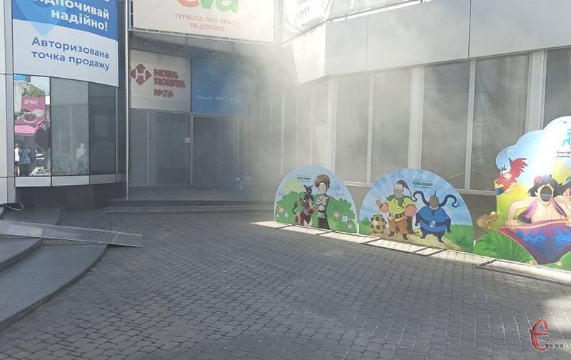 Пожежа виникла близько 12:50. Фото: Володимира Гординського