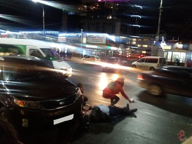 Через ДТП рух у центрі міста був ускладнений