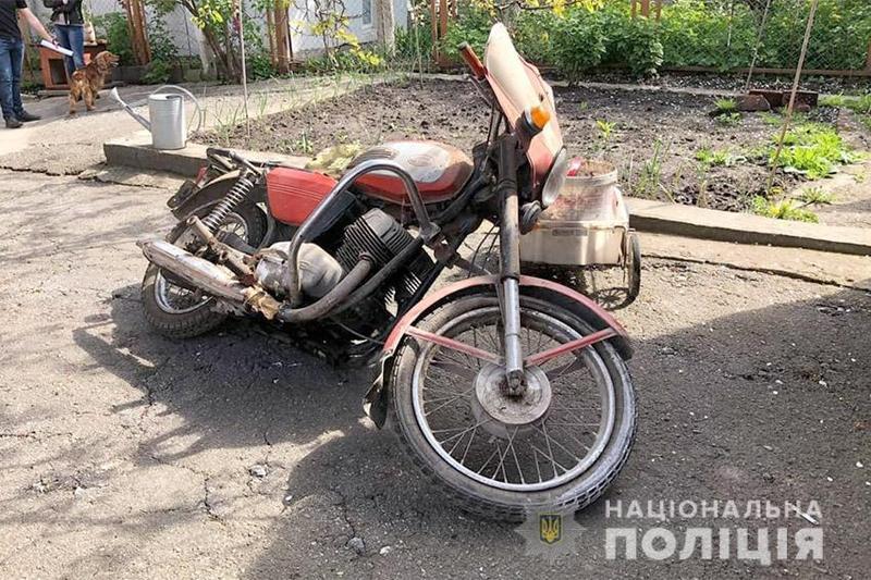 У Хмельницькому поліцейські повернули власнику викрадений мотоцикл