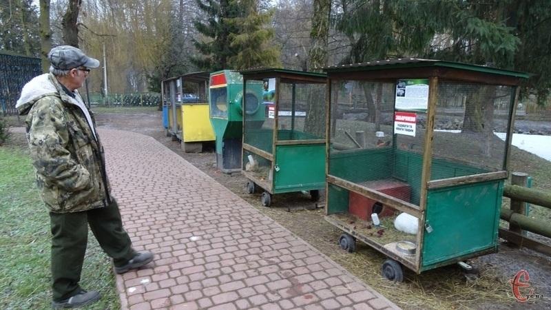 Доглядач за тваринами у зоокутку Володимир Шевчук каже: