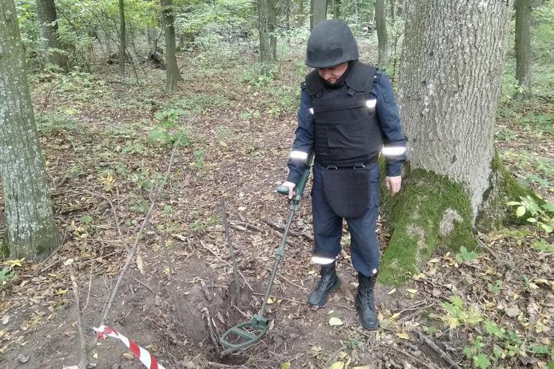 Боєприпас виявили у лісосмузі