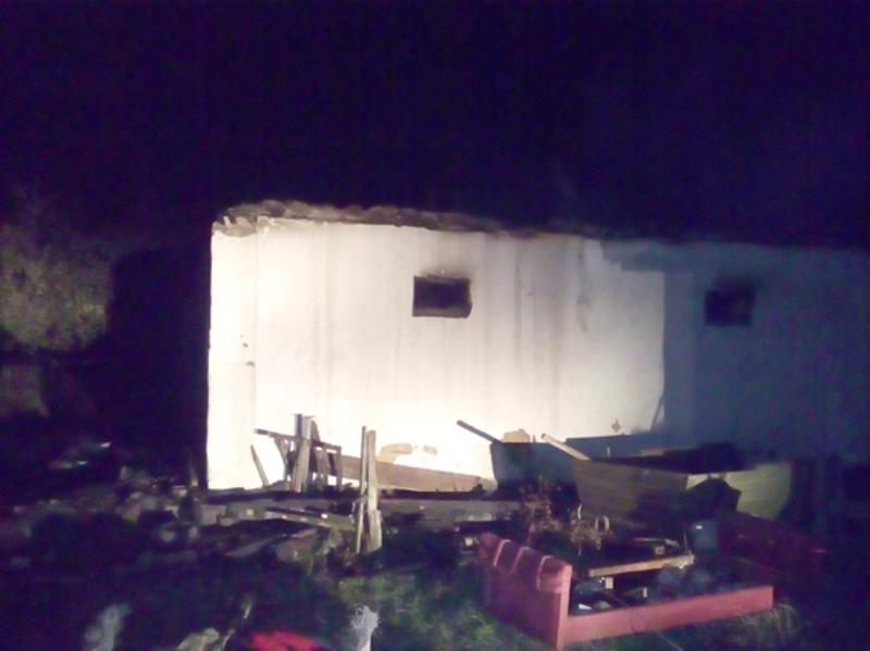 Вогонь знищив перекриття та покриття будівлі