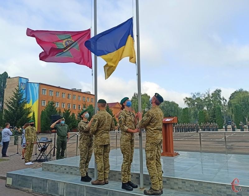 З нагоди Дня Державного Прапора та Дня незалежності у прикордонній академії відбулися урочистості