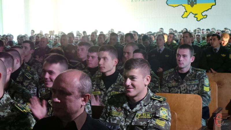 Учасників маршу Незалежності привітали у прикордонній академії