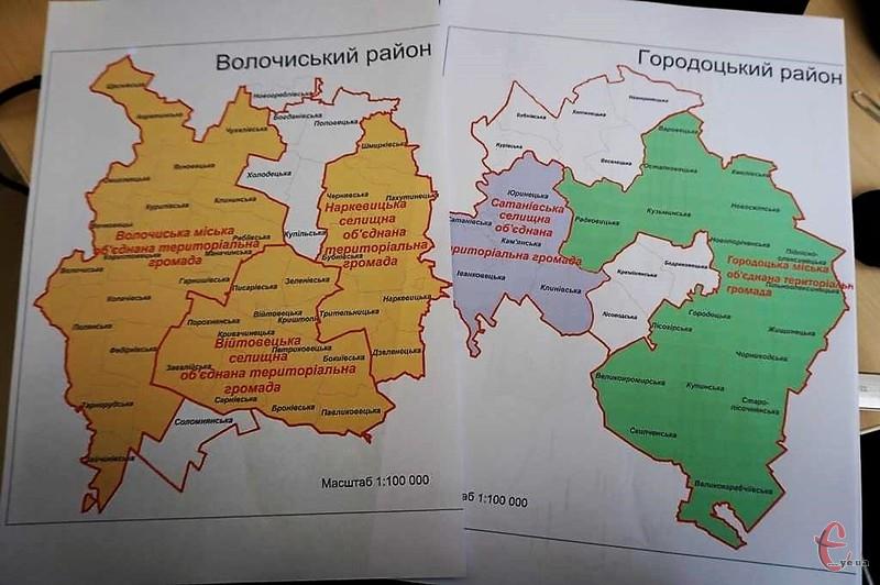 На карті Хмельниччини ще чимало населених пунктів, які не віднесені до жодної ОТГ.