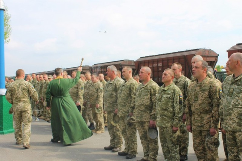 У нелегку дорогу військових благословив капелан