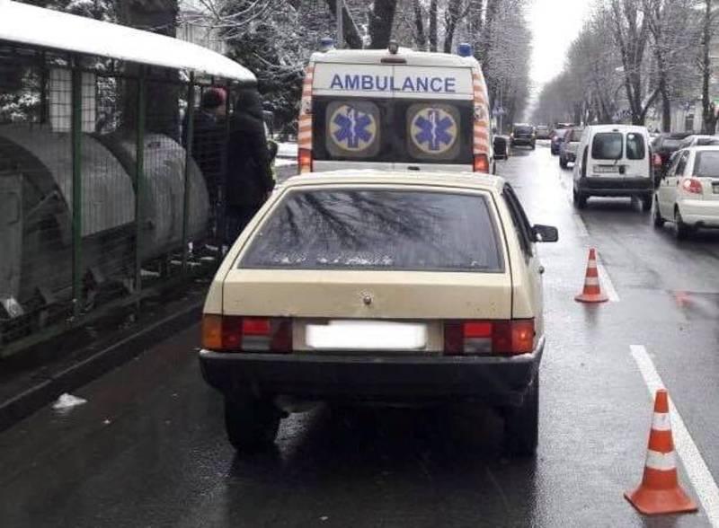 Аварія сталася на вулиці Соборній