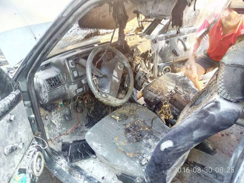 Автомобіль загорівся під час руху